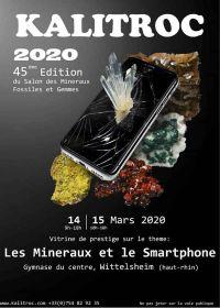 45: e utställning av mineraler, fossiler och ädelstenar