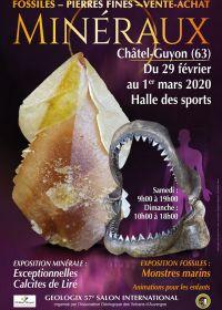 57: e geologiska utställningen av mineraler, fossiler och ädelstenar