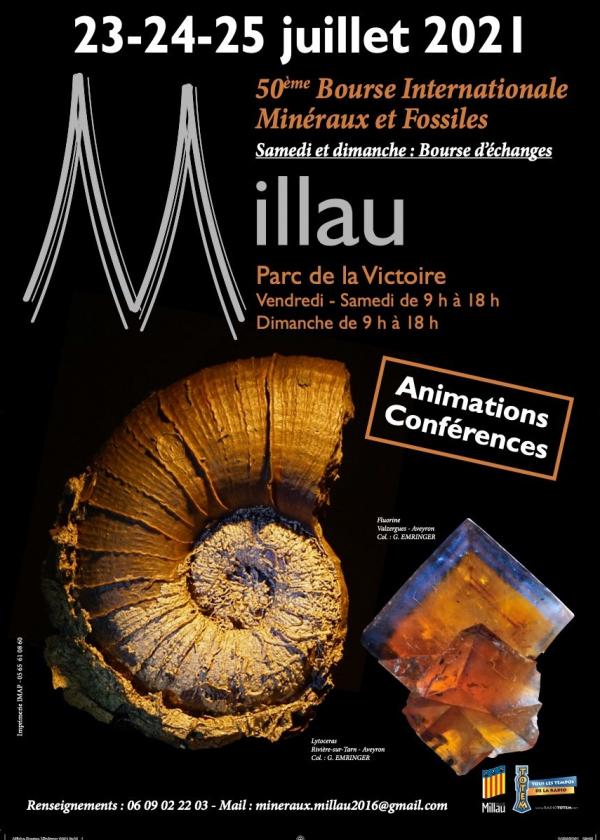 50: e Millau International Fossil Minerals Gems Exchange