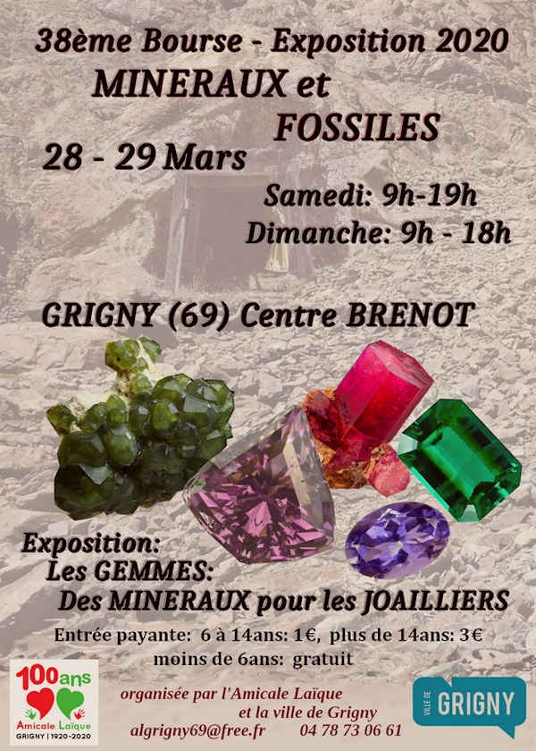 38: e utställningen av mineraler och fossiler
