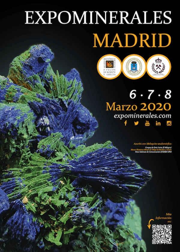 Mineralsutställning Madrid 2020