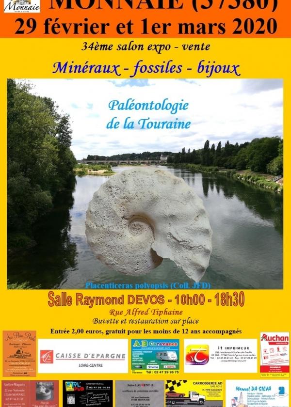 34: e utställnings- och försäljningsmässa för mineraler och fossil