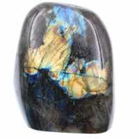 Labradorit med gula reflektioner, dekorativ sten