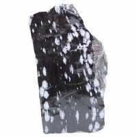 Stort snöigt Obsidian-block