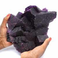 Exceptionell mörklila fluoritkristallisation