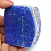 Polerad naturlig lapis lazuli