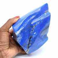 Stor dekorativ sten i Lapis-lazuli
