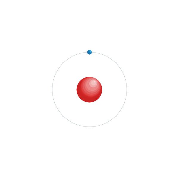 Väte Elektroniskt konfigurationsschema