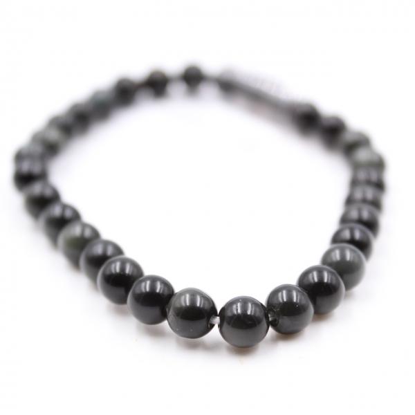 6mm Obsidian armband