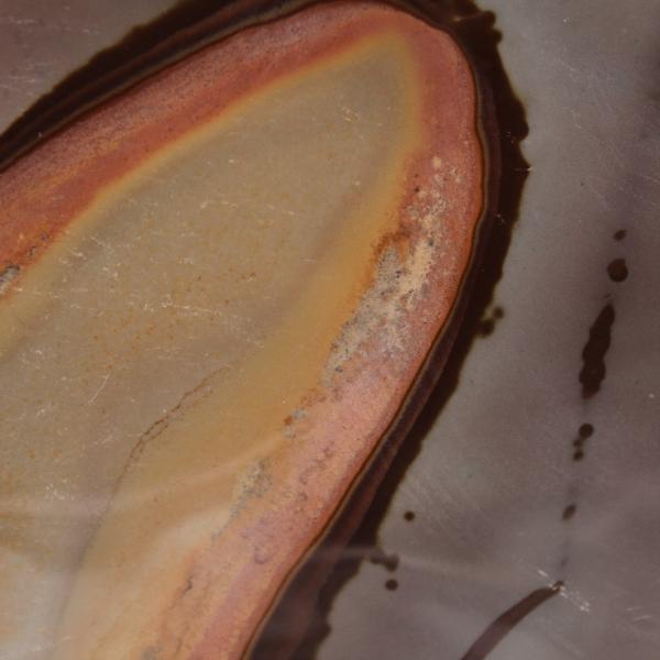 Stort block av tryckt jaspis 10 kilo, prydnadssten