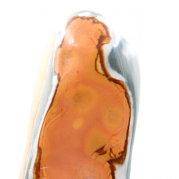 Tryckt jaspis friform polerad blå orange 3 kilo