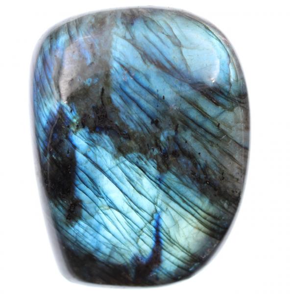Labradoritblå sten, dekorationsblock