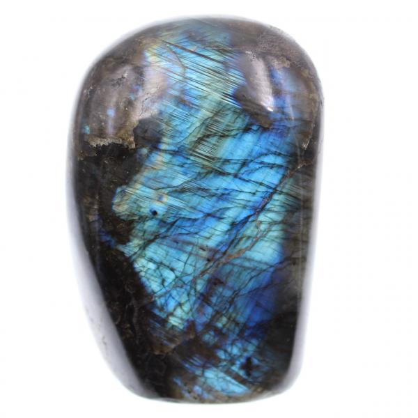 Dekorativ sten för labradorit med blå reflexioner