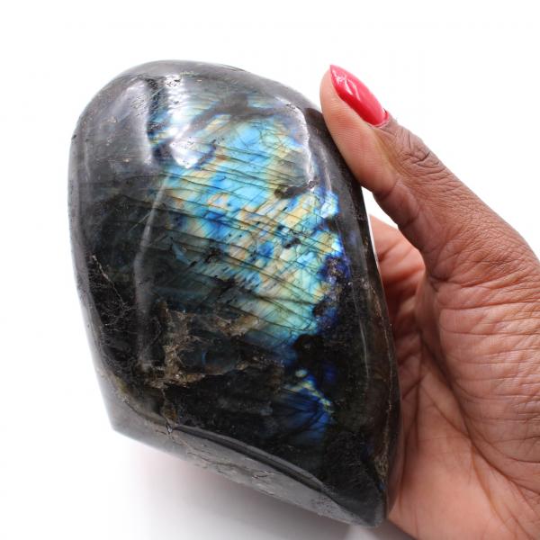 Labradorit samling sten