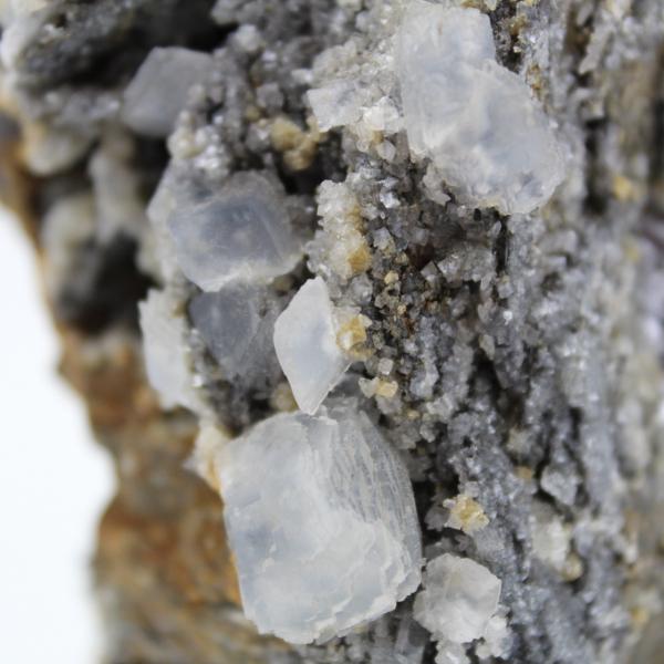 Block av cerusitgalena och barit