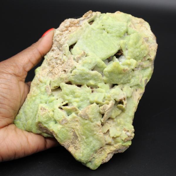 Grön pyromorfit i platta
