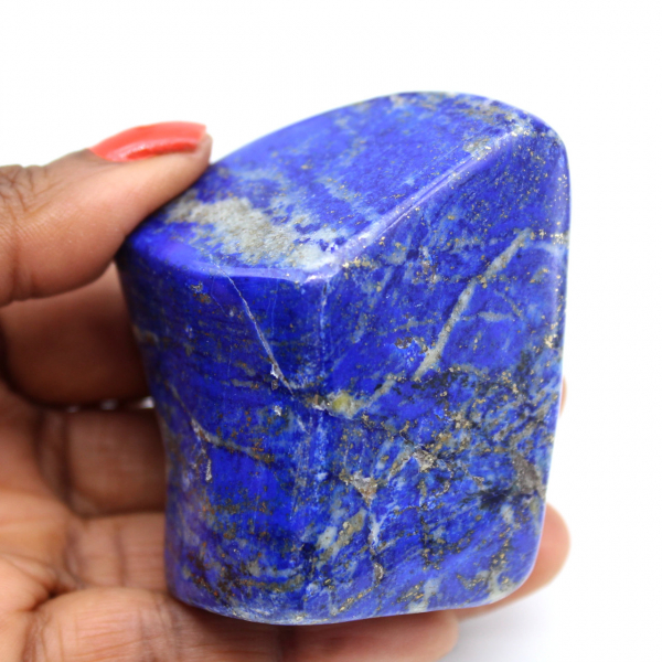 Polerat lapis lazuli-block