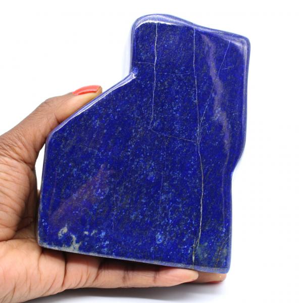 Stort polerat lapis lazuli-block för insamling